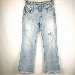 BKE | Men's Derek Distressed Blue Jeans
